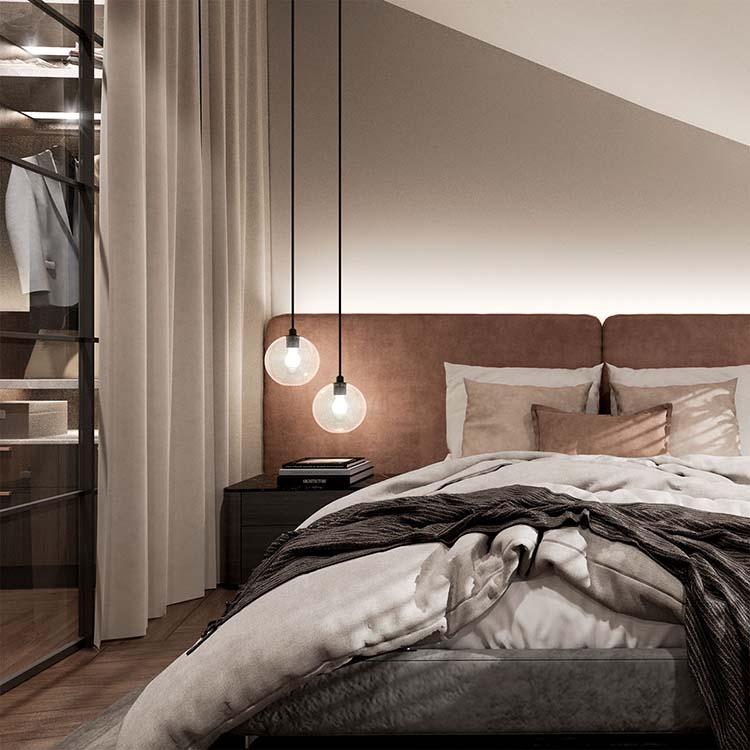Kaisaniemenkatu 3 asunnon 1 makuuhuone 3D_Loftmen