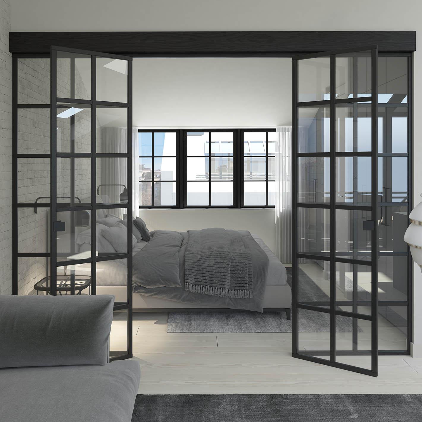 Iso Roobertinkatu 41 a 67_ullakkoasunnon master bedroom_Loftmen